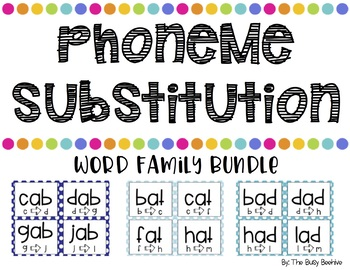 Phoneme Substitution Word Family Cards BUNDLE