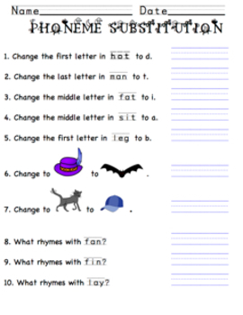 Phoneme Substitution and Rhyme Practice