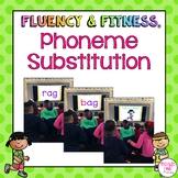 Phoneme Substitution with CVC Words Fluency & Fitness® Brain Breaks