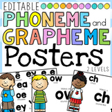 Phoneme and Grapheme Posters and Cheat Sheet: 44 Phonemes