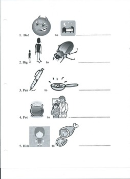 Phoneme replacement worksheets