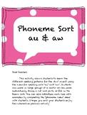 Phoneme rules/sort (au & aw)