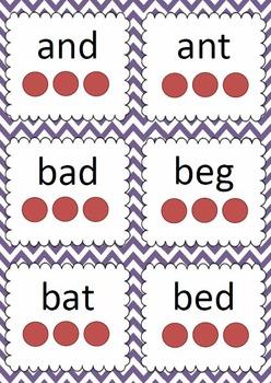 Phonemes Flash Cards - 2, 3 & 4 phoneme words
