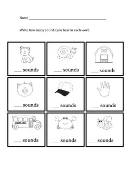 Phonemes: How many sounds do you hear in the words?