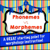 Phonemes vs. Morphemes: Teaching Young Readers how to Know the Difference