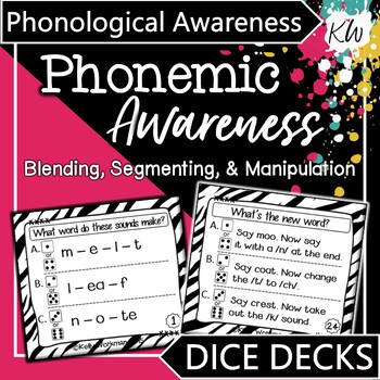 Phonemic Awareness Interactive Task Cards - Phonological Awareness