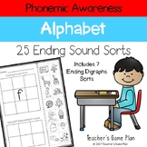 Phonemic Awareness - 25 Ending Sound Picture Sorts