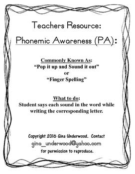 Spalding Phonemic Awareness