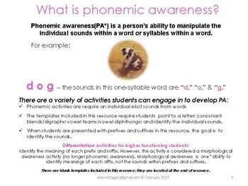 Know the Code: Phonemic Awareness Activities