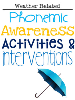 Phonemic Awareness Activities & Interventions - April