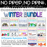 Phonemic Awareness Activities & Interventions - Winter Bundle (Dec, Jan & Feb)