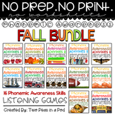 Phonemic Awareness Activities & Interventions - Fall Bundle (Sep, Oct & Nov)