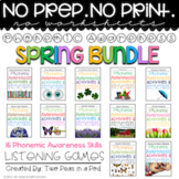 Phonemic Awareness Activities & Interventions - Spring Bundle (Mar, Apr, May)