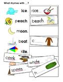 Phonemic Awareness Activities - Rhyming Words