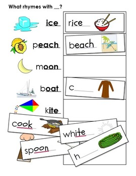 Phonemic Awareness Activities - Rhyming Words