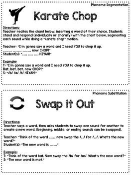 Phonemic Awareness Activities (NO PREP Teacher Task Cards)