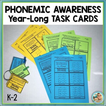 Phonemic Awareness Activities assessment Teacher TASK CARDS