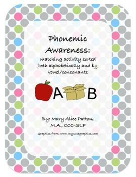 Phonemic Awareness/Phonics Activity