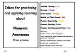 Phonemic Awareness Activity Cards - Initial Sounds