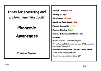 Phonemic Awareness Activity Cards - Medial and Final Sounds