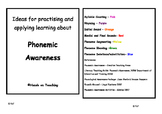 Phonemic Awareness Activity Cards - Medial and Final Sounds