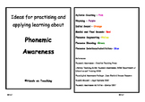 Phonemic Awareness Activity Cards - Phoneme Blending