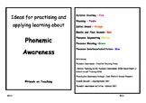 Phonemic Awareness Activity Cards - Phoneme Segmenting