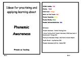 Phonemic Awareness Activity Cards - Rhyming