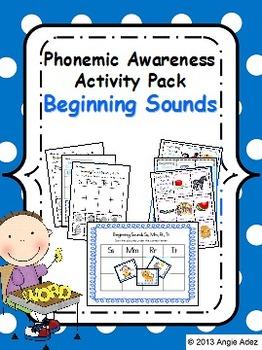 Phonemic Awareness Activity Pack- Beginning Sounds
