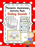 Phonemic Awareness Activity Pack- Ending Sounds