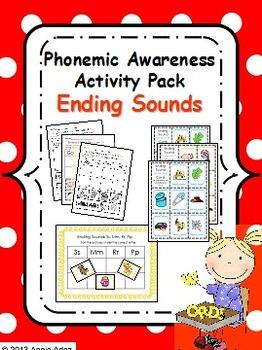 Phonemic Awareness Activity Pack- Ending Sounds
