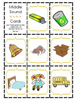 Phonemic Awareness Activity Pack- Middle Sounds