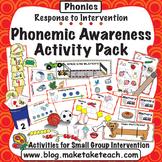 Phonemic Awareness - Response to Intervention Activity Pack