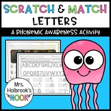 Phonemic Awareness Activity - Scratch & Match Letters