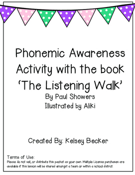 Phonemic Awareness Activity: Phoneme identification and manipulation