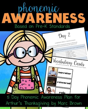 Phonemic Awareness Arthur's Thanksgiving by Marc Brown
