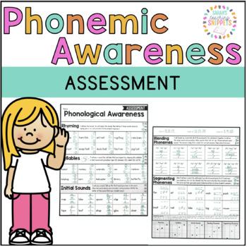 Phonemic Awareness Assessment FREEBIE