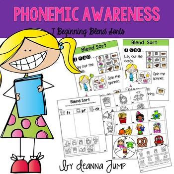 Phonemic Awareness Beginning Blends Sorts