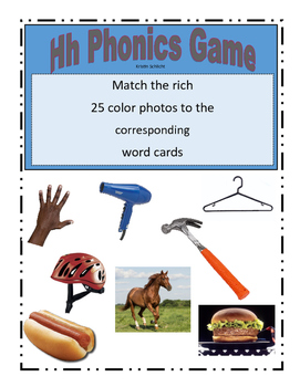 Phonemic Awareness Beginning Hh Sound Game