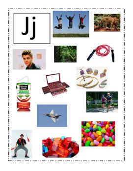 Phonemic Awareness Beginning Jj Sound Game