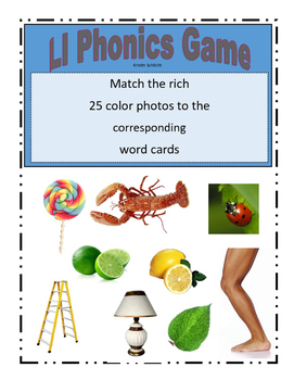 Phonemic Awareness Beginning Ll Sound Game