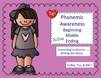 Phonemic Awareness...Beginning, Medial, Final Phonemes