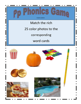 Phonemic Awareness Beginning Pp Sound Game