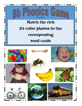 Phonemic Awareness Beginning Bb Sound Game