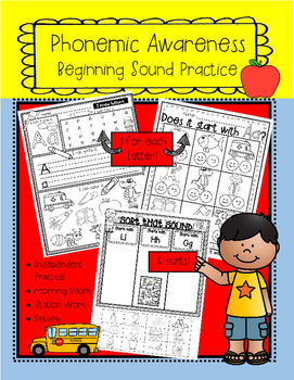 Phonemic Awareness-Beginning Sound Practice