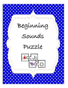 Phonemic Awareness Beginning Sound Puzzle game