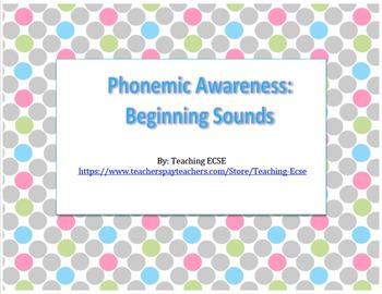 Phonemic Awareness: Beginning Sounds File Folders