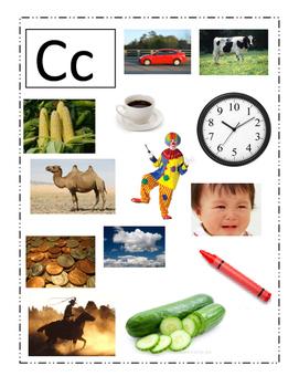 Phonemic Awareness Beginning Cc Sounds Game