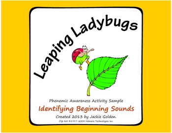 Phonemic Awareness - Beginning Sounds: Leaping Ladybugs