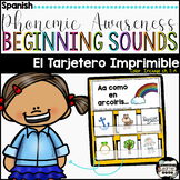 Phonemic Awareness Beginning Sounds Pocket Chart/ Tarjetero Centro {Spanish}